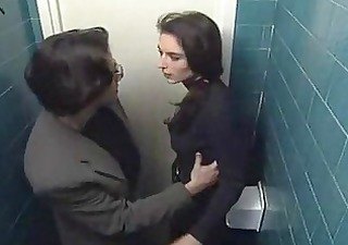 stalked and molested in the public lavatory
